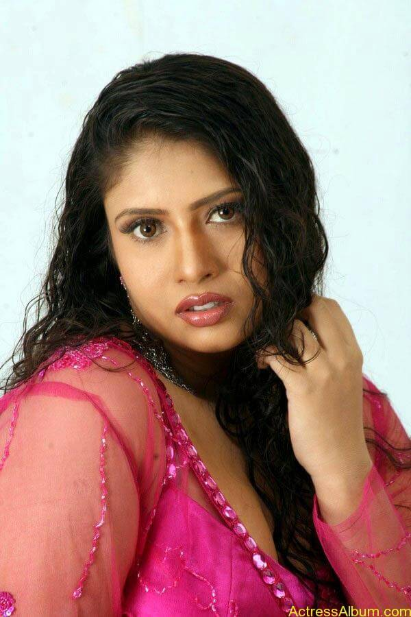 Sangavi Hot In Pink Dress (1)