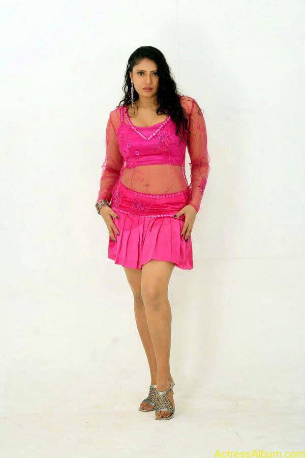 Sangavi Hot In Pink Dress (7)