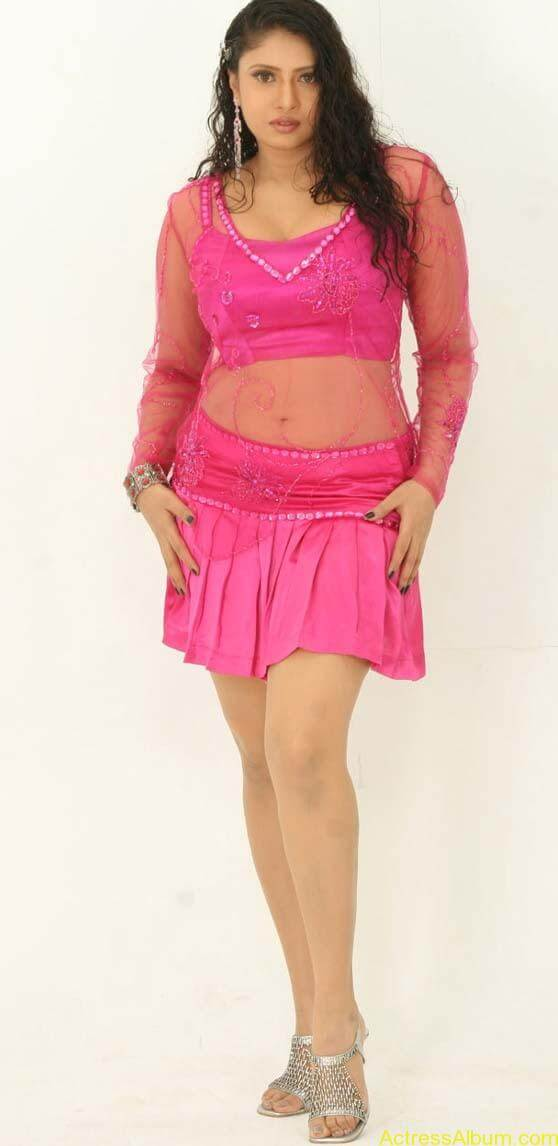 Sangavi Hot In Pink Dress (8)