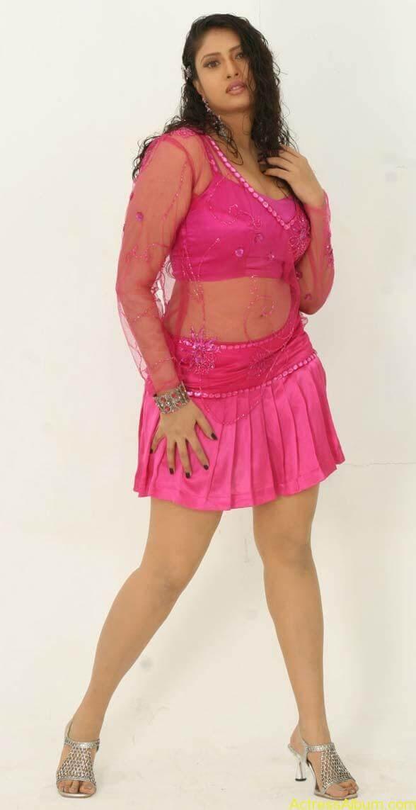 Sangavi Hot In Pink Dress (9)
