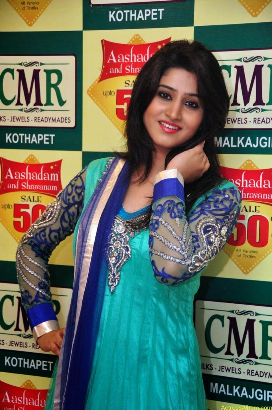 Shamili in anarkali dress at CMR shopping mall 1