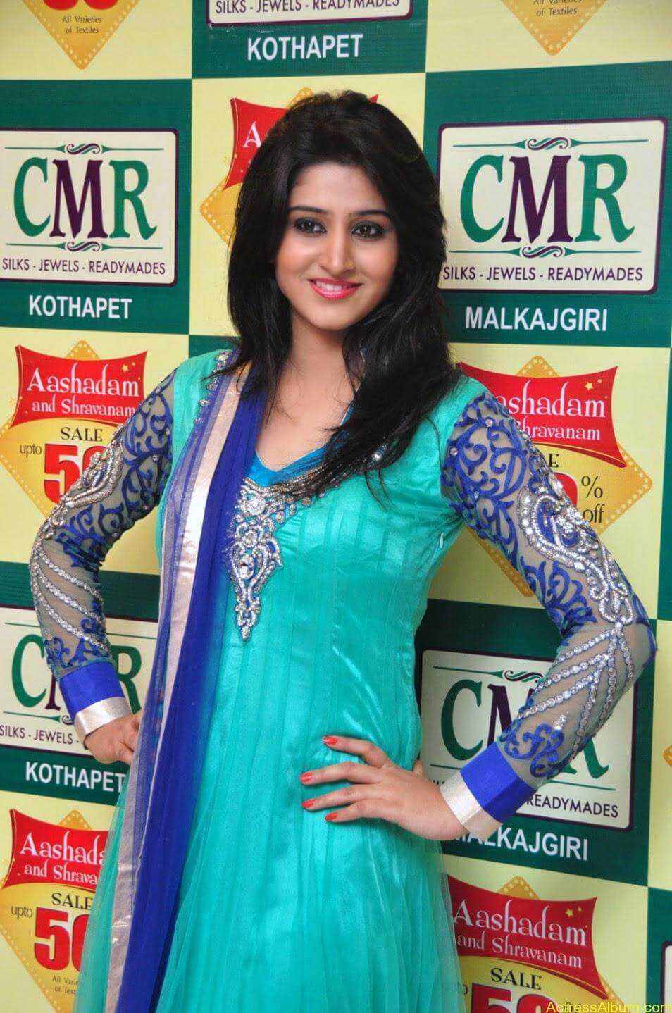 Shamili in anarkali dress at CMR shopping mall 5