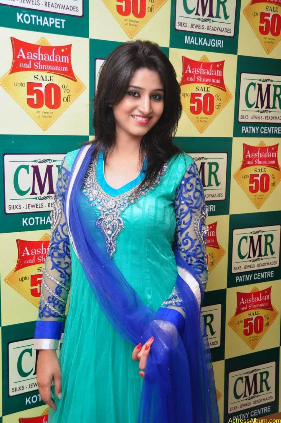 Shamili in anarkali dress at CMR shopping mall 8
