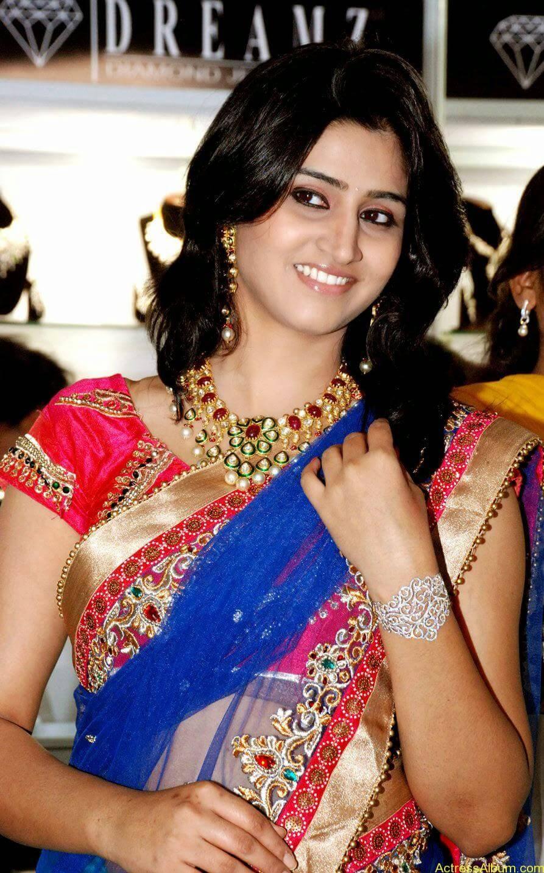 Shamli in saree at jewelry shop opening 4