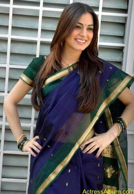 Shraddha Arya In Saree Stills (4)