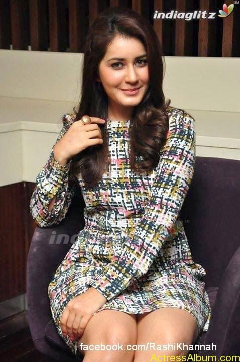Actress Rashi Khanna Hot Dress Photos 8
