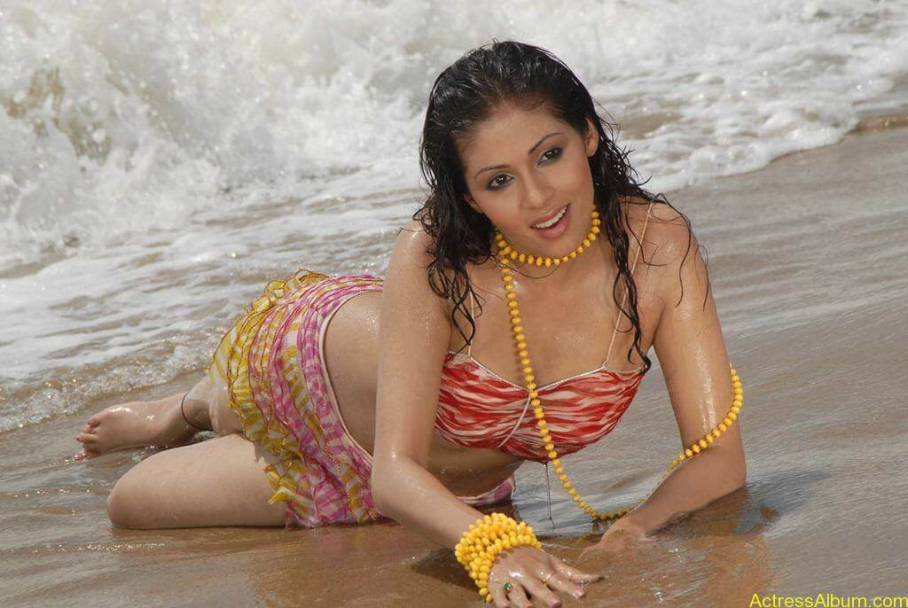 Actress SADA hot swimsuit pics at beach 1