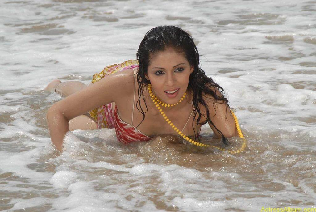 Actress SADA hot swimsuit pics at beach 3