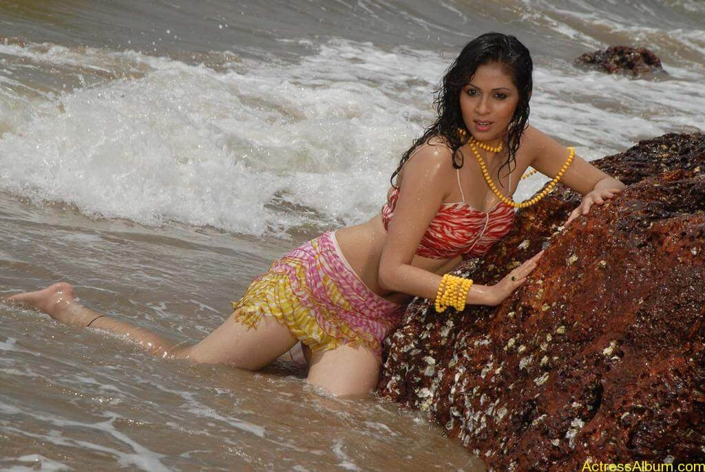 Actress SADA hot swimsuit pics at beach 4