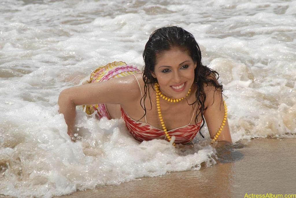 Actress SADA hot swimsuit pics at beach 5
