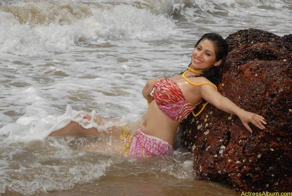 Actress SADA hot swimsuit pics at beach 6