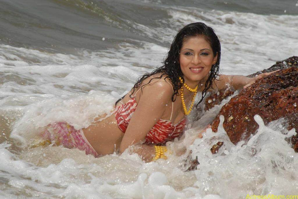 Actress SADA hot swimsuit pics at beach 7