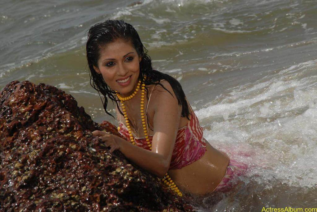 Actress SADA hot swimsuit pics at beach 8