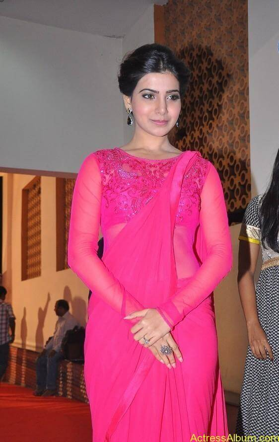 Actress Samantha Beautiful in Pink dress 10