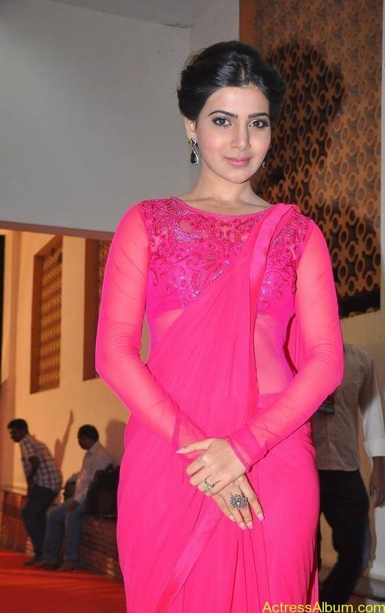 Actress Samantha Beautiful in Pink dress 2