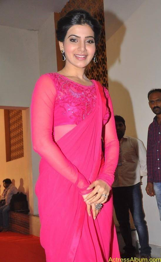 Actress Samantha Beautiful in Pink dress 5