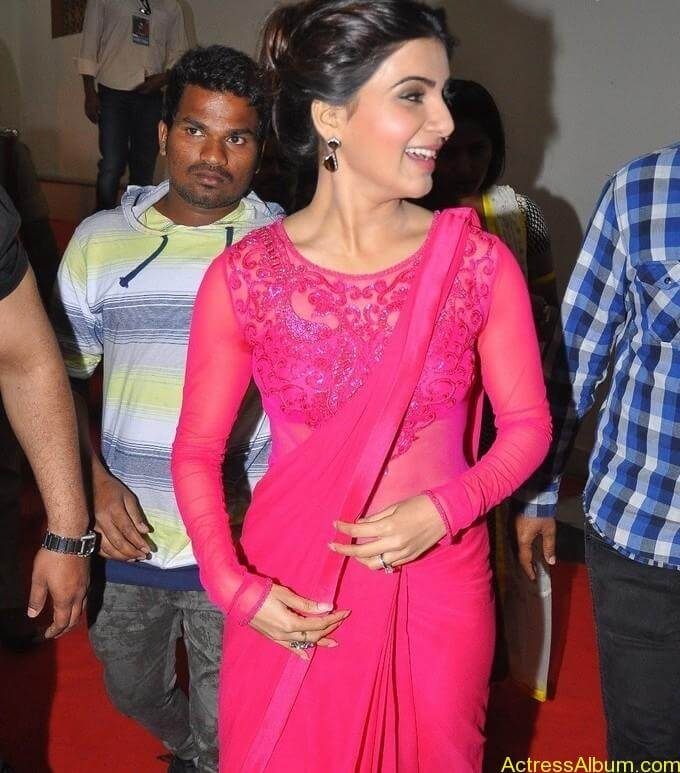 Actress Samantha Beautiful in Pink dress 9