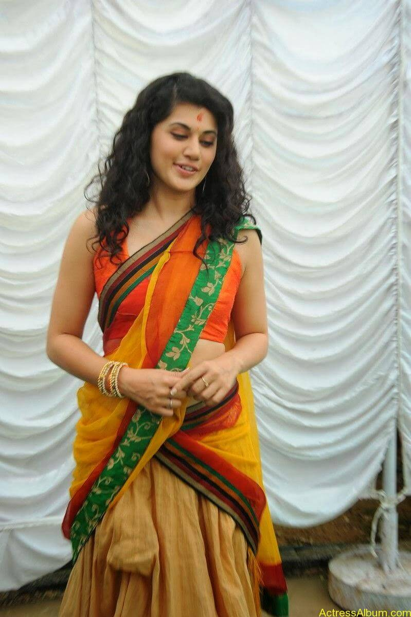 Actress Tapsee Half Saree Photos at Muni 3 Movie Launch 3