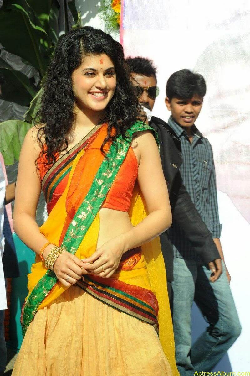 Actress Tapsee Half Saree Photos at Muni 3 Movie Launch 4