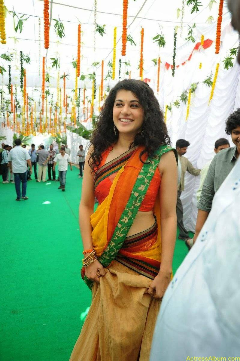 Actress Tapsee Half Saree Photos at Muni 3 Movie Launch 5