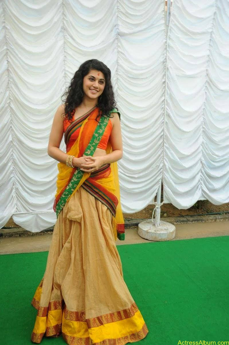Actress Tapsee Half Saree Photos at Muni 3 Movie Launch 6