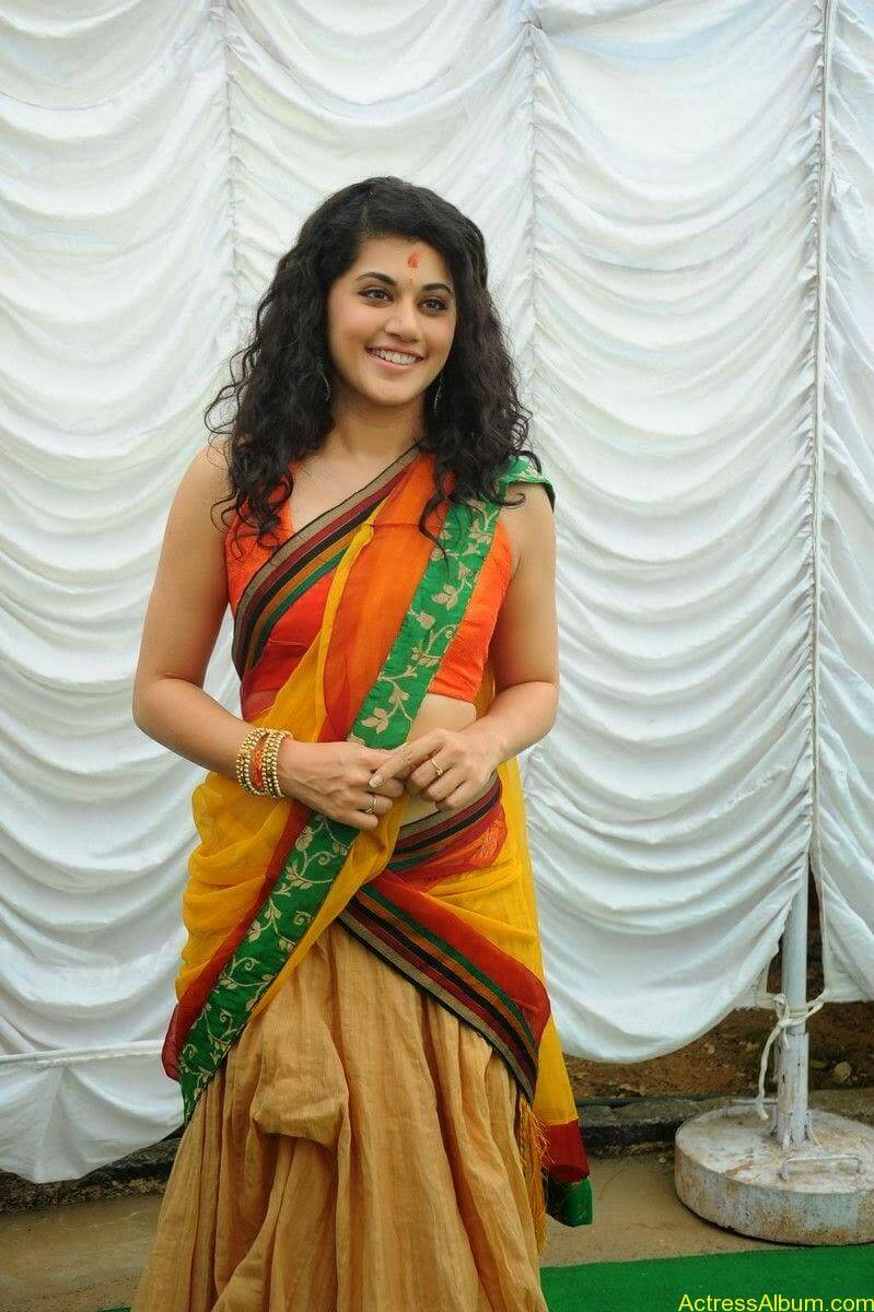 Actress Tapsee Half Saree Photos at Muni 3 Movie Launch 9