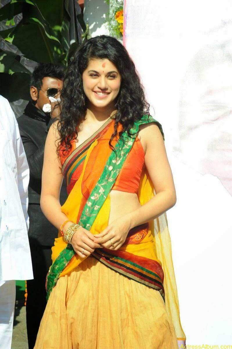 Actress Tapsee Half Saree Photos at Muni 3 Movie Launch