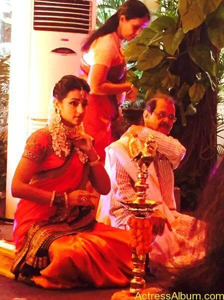 Actress Trisha Krishnan Engagement Pictures 3