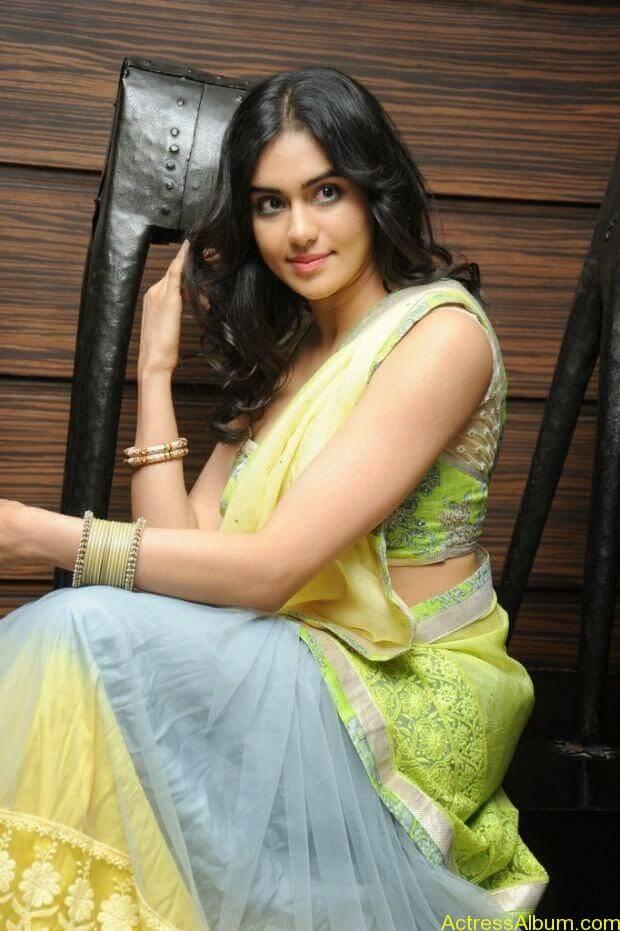 Adah Sharma hot in half saree stills (1)