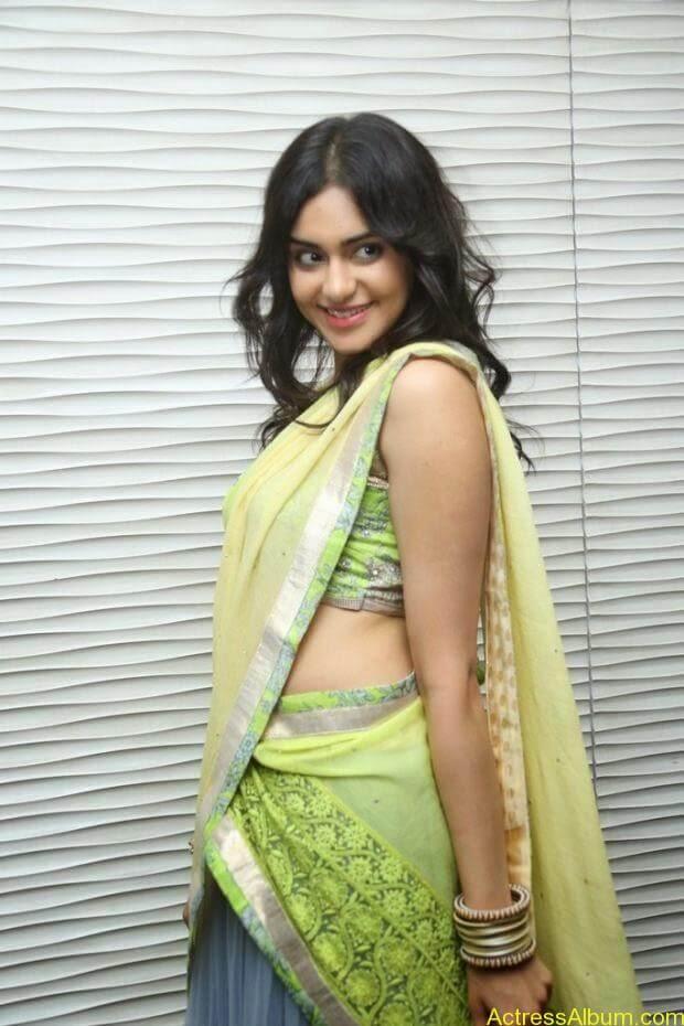 Adah Sharma hot in half saree stills