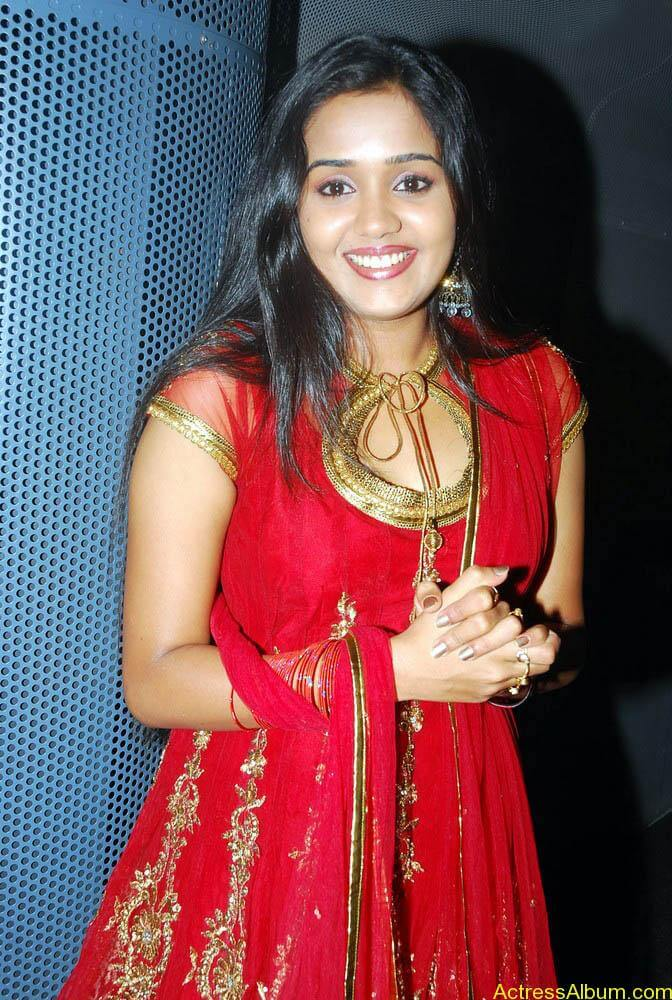Ananya cute stills in red colour sudithar  (1)