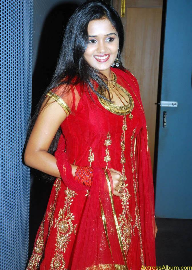 Ananya cute stills in red colour sudithar  (11)