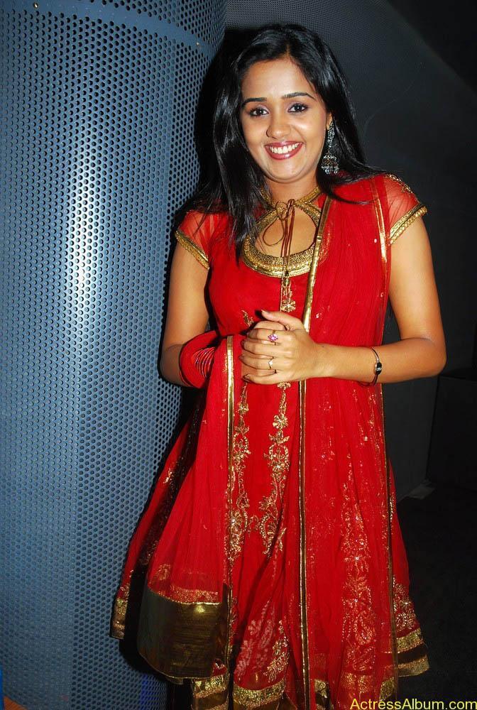 Ananya cute stills in red colour sudithar  (2)
