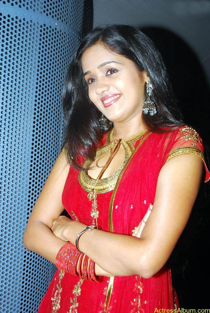 Ananya cute stills in red colour sudithar  (4)