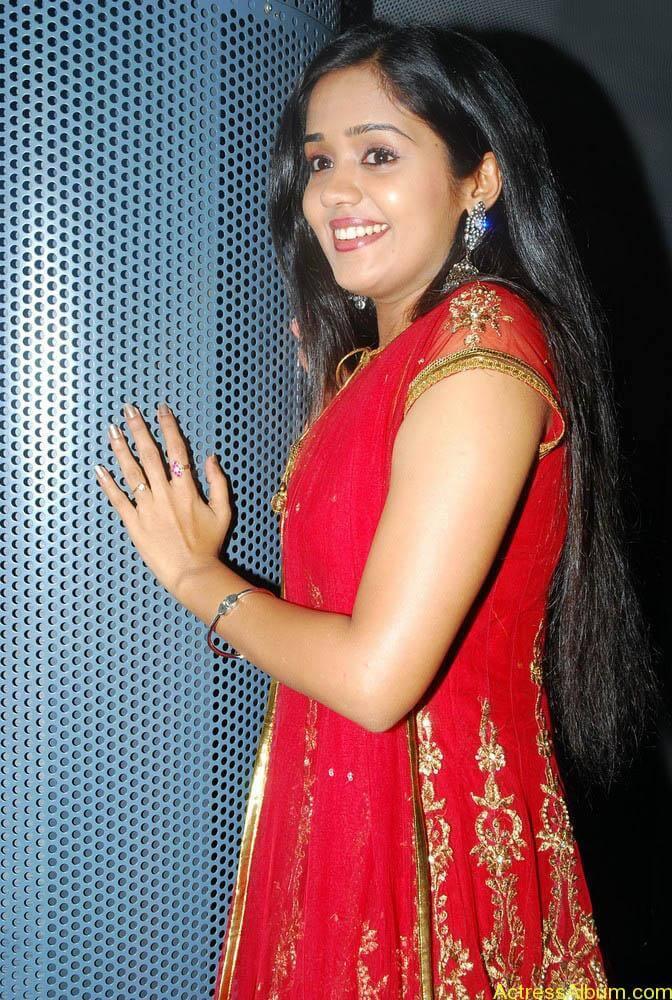 Ananya cute stills in red colour sudithar  (5)