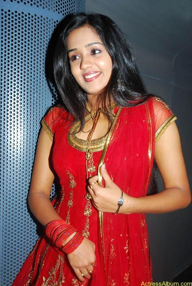 Ananya cute stills in red colour sudithar  (6)