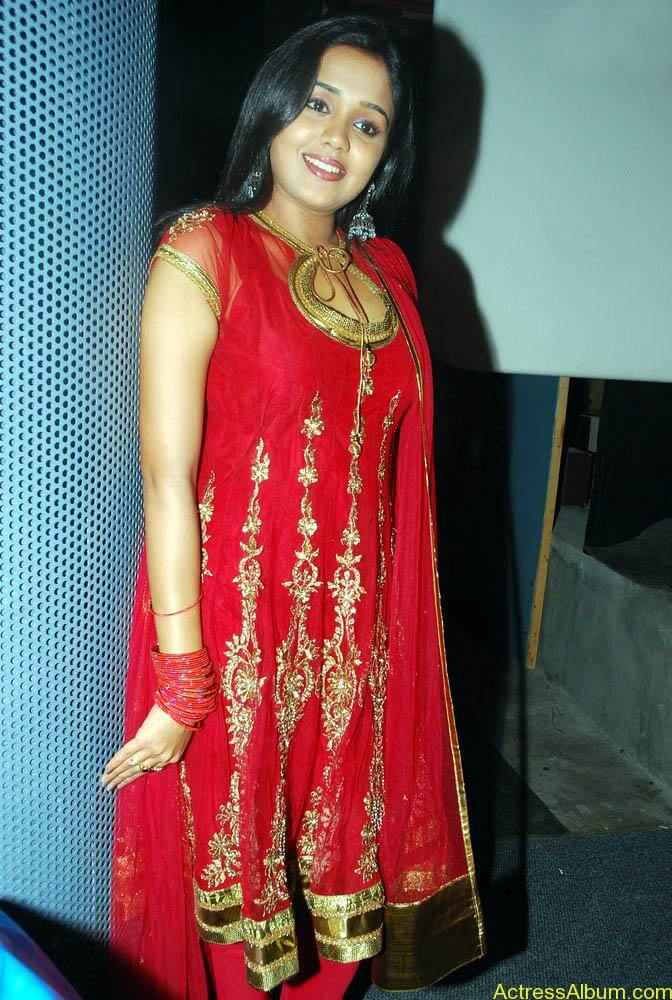 Ananya cute stills in red colour sudithar  (7)