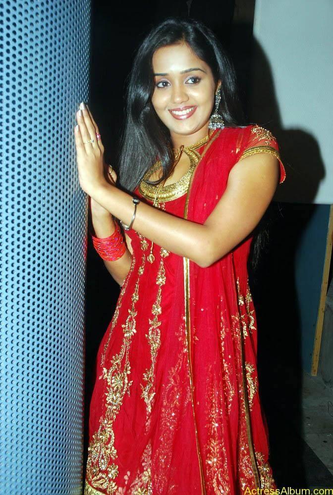Ananya cute stills in red colour sudithar  (8)