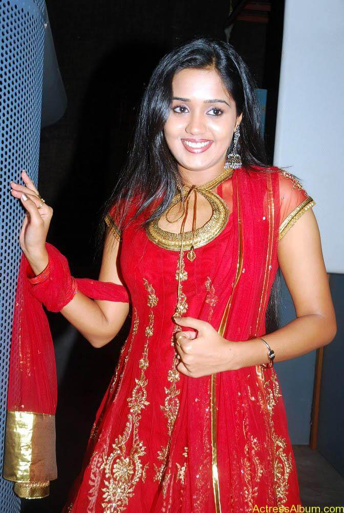 Ananya cute stills in red colour sudithar  (9)