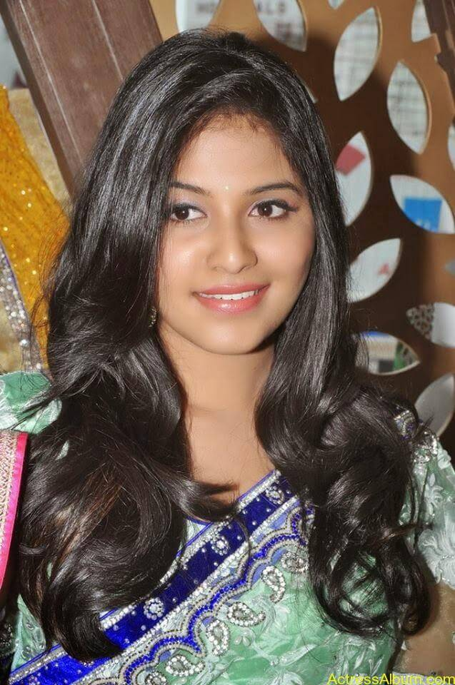 Anjali latest cute hot stills in saree (10)