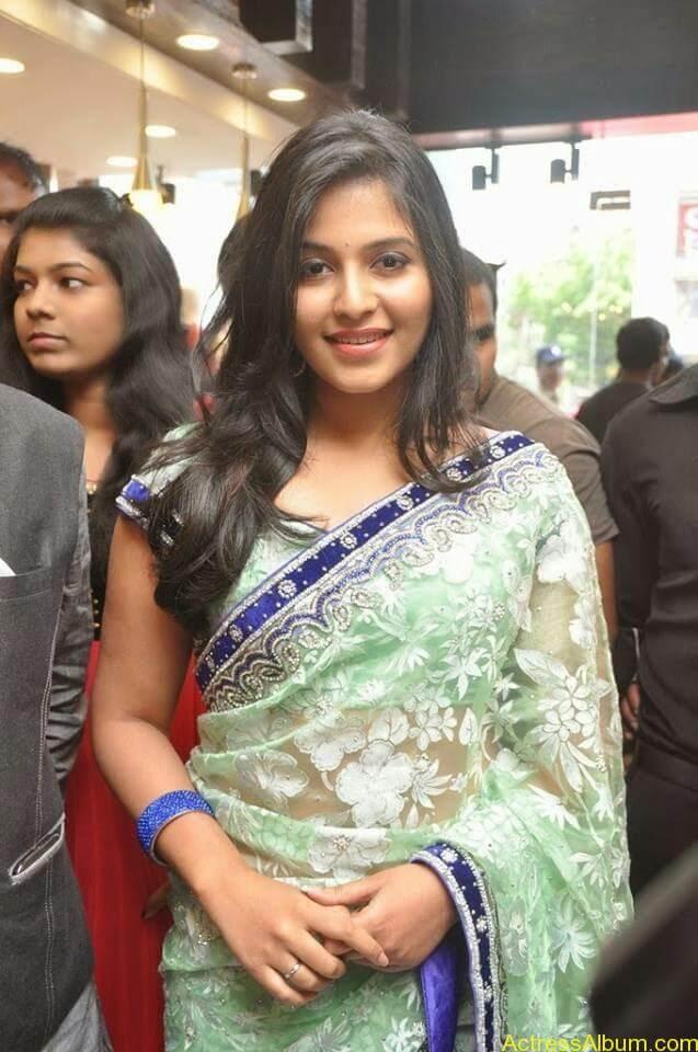 Anjali latest cute hot stills in saree (2)