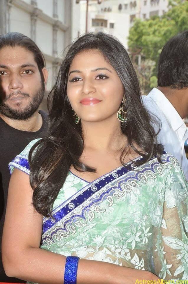 Anjali latest cute hot stills in saree (3)