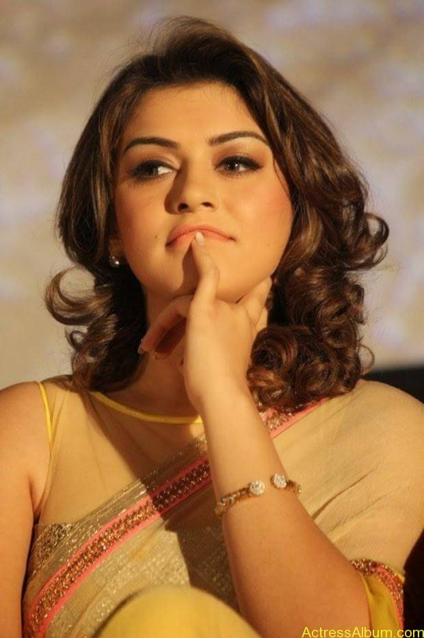 Hansika in Hot Transparent Saree Sexy Pics10