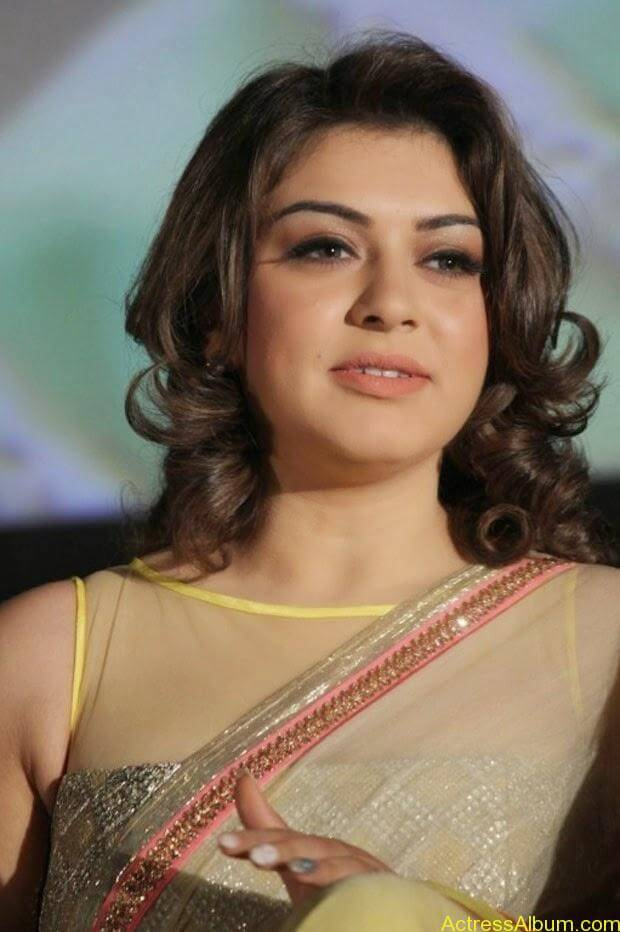 Hansika in Hot Transparent Saree Sexy Pics2