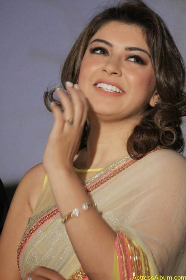 Hansika in Hot Transparent Saree Sexy Pics5