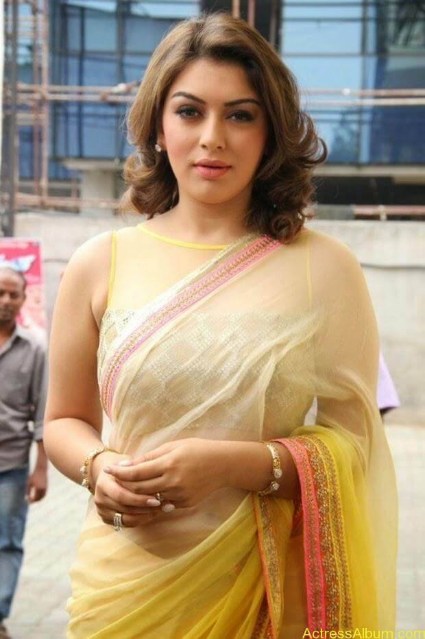 Hansika in Hot Transparent Saree Sexy Pics7