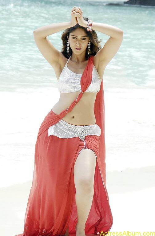 Ileana hot beach pics in red dress 16