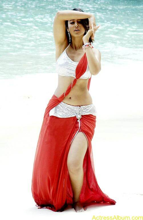 Ileana hot beach pics in red dress 7