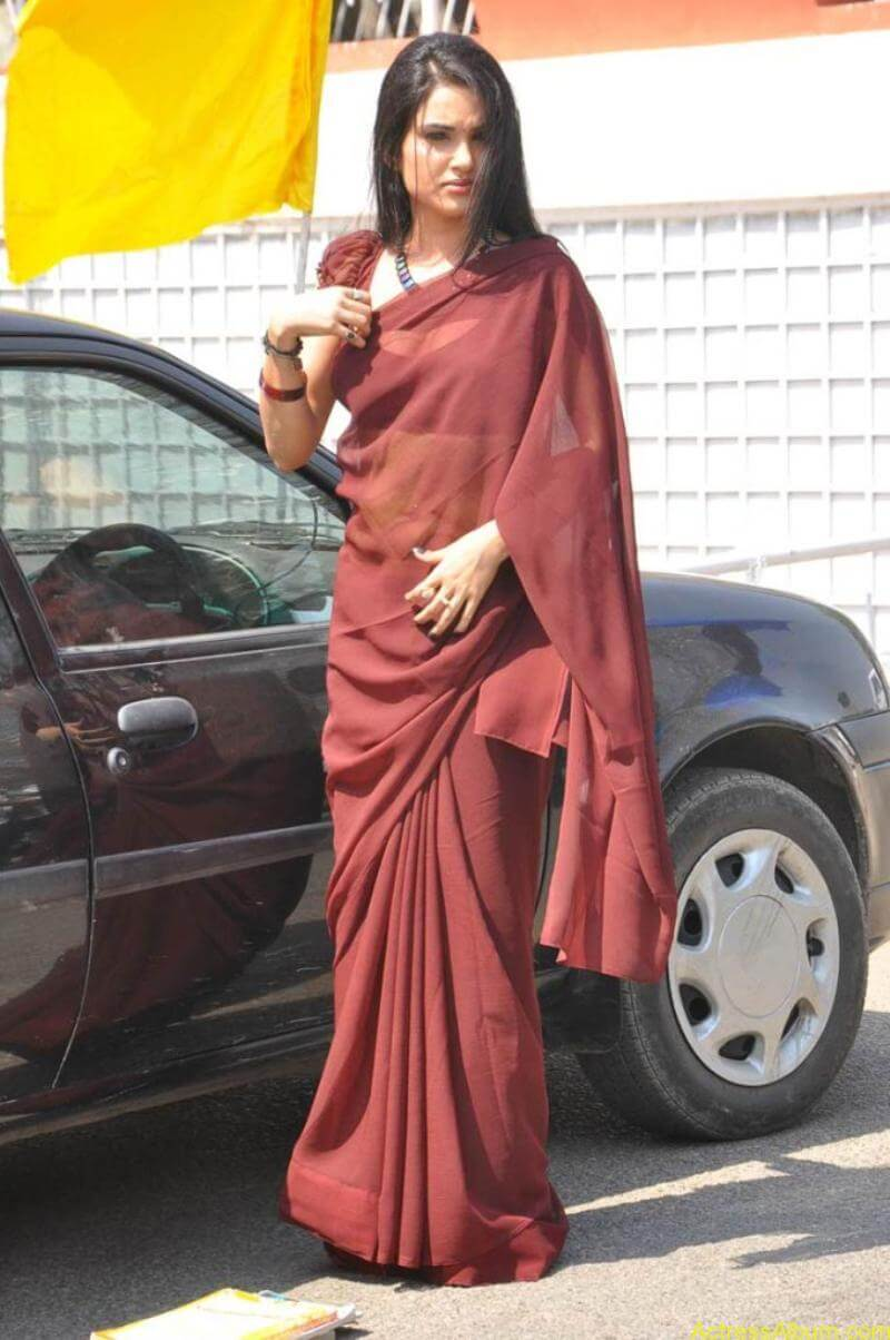 Kavya Singh Hot Saree Stills (10)