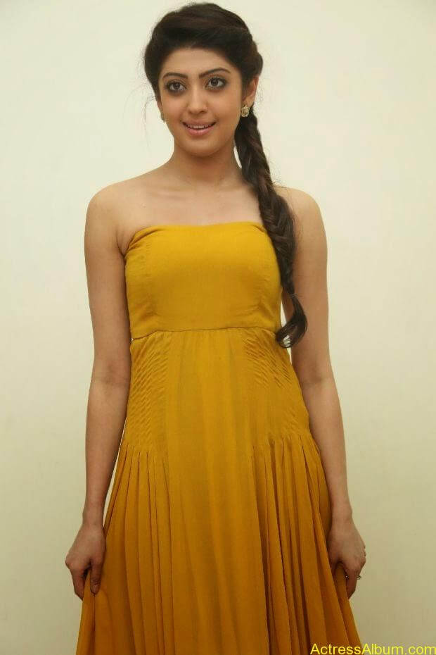 Praneetha new look in yellow topless (4)